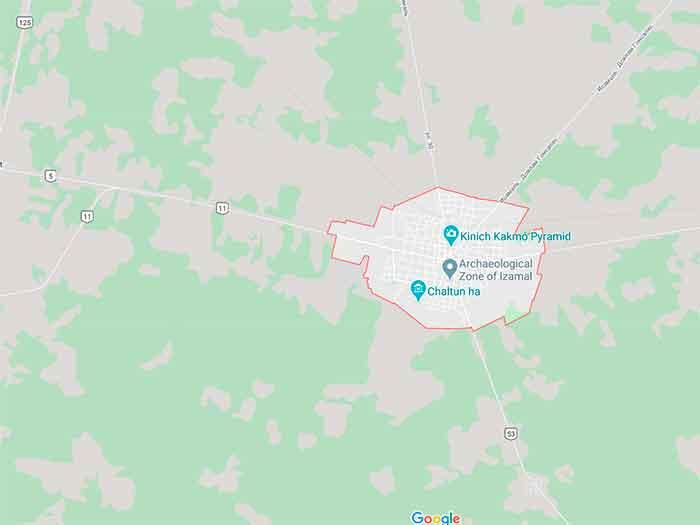 Великолепный Исамаль на карте