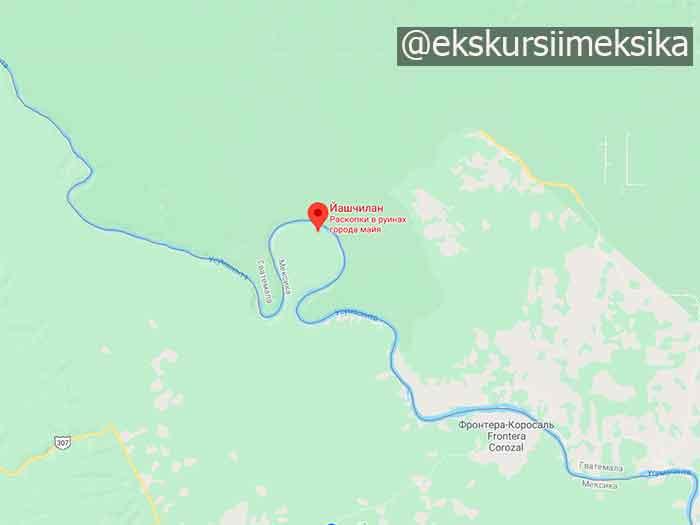 Лесной Яшчилан на карте