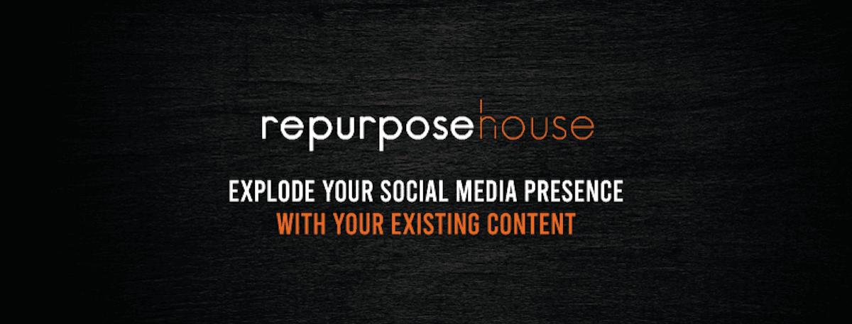 Screenshot of repurpose house logo and cover