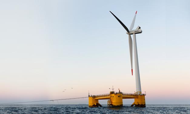 Um parque eólico flutuante ibérico começa a gerar eletricidade para a rede portuguesa
