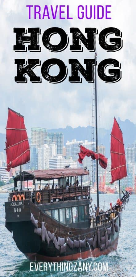 Travel Itinerary to Hong Kong and Macau