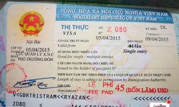 Vietnam Visa Scam: A Visa Experience using my British Passport
