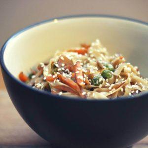 Recept za riževe rezance z zelenjavo