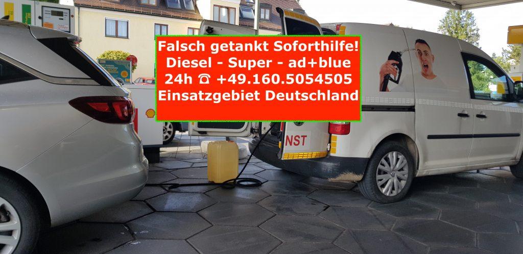 Opel-falsch-getankt-diesel-super-ad-blue-Sofothilfe-Deutschland