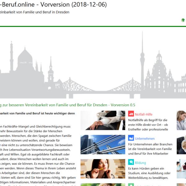 Webfassung für Pilotregion Dresden als Vorversion nun verfügbar