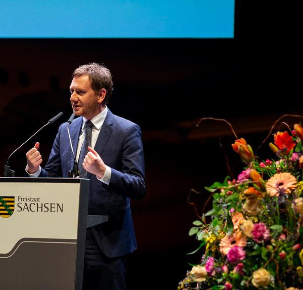 Zu Gast bei der Neujahrsbegegnung mit Ministerpräsident Michael Kretschmer