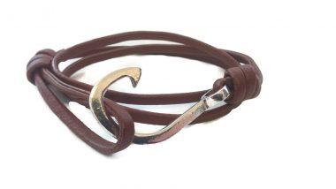 Leather Fish Hook Bracelets Make A Statement