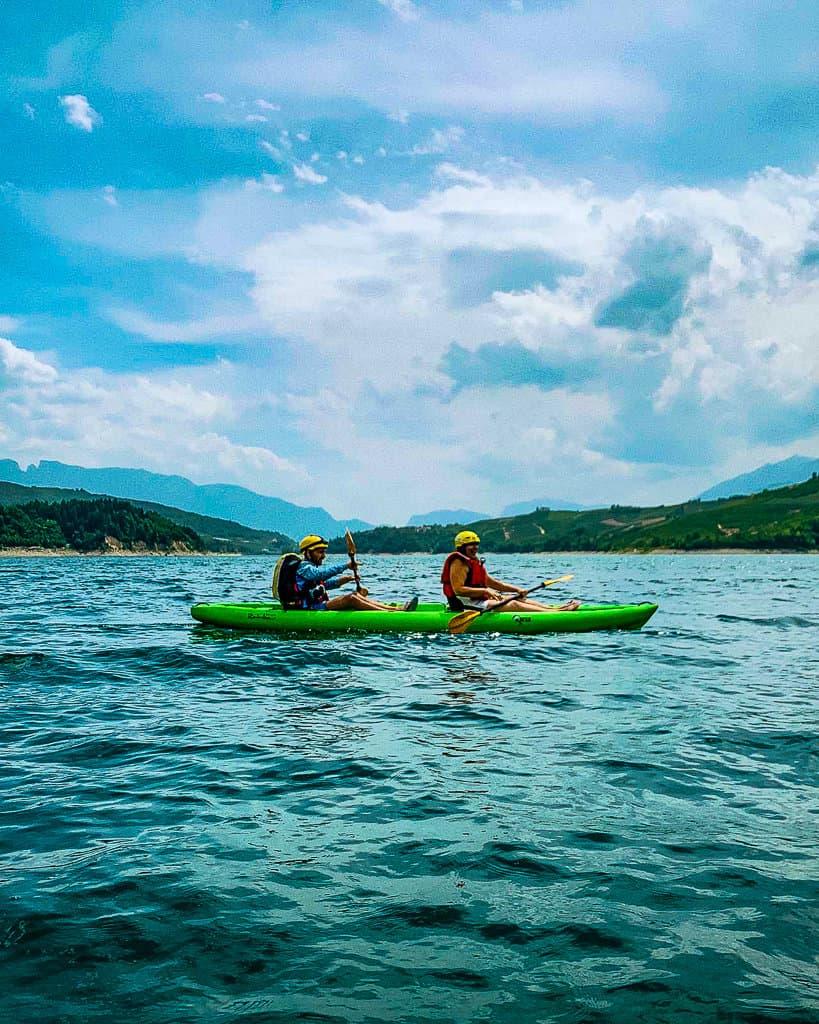 Kayaking on Lake Santa Giustina