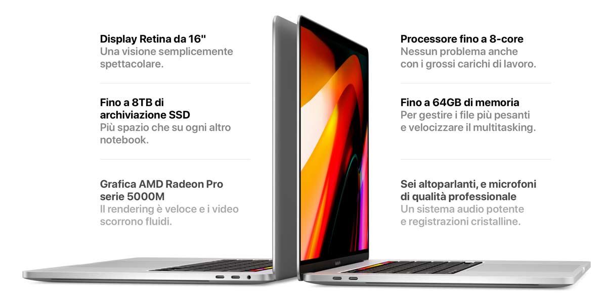 caratteristiche MacBook Pro 16