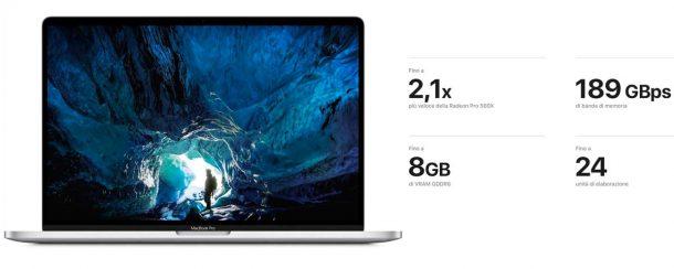 Prestazioni Apple Mac Book Pro 16