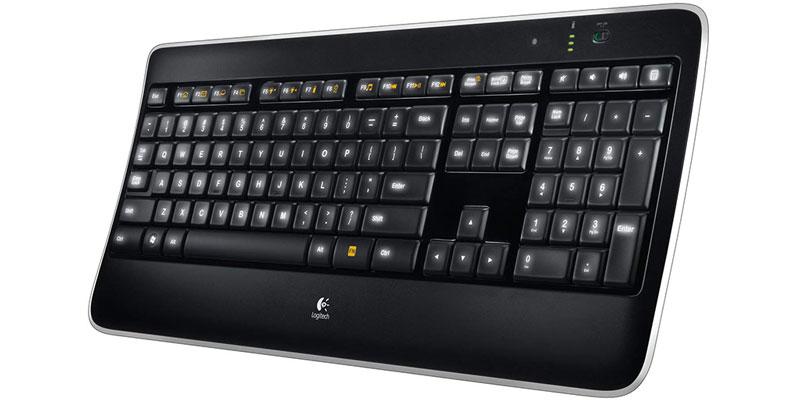 tastiera senza fili Logitech professionale k800