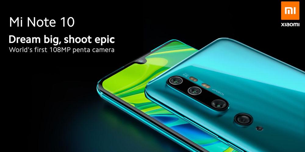 Xiaomi Mi Note 10 Pro fotocamera 8P