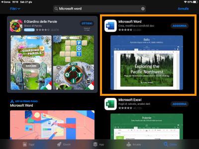 App di Word su iPad