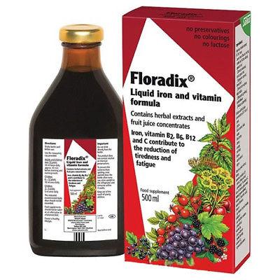 Floradix® Liquid Iron And Vitamin Formula 500 Ml Free Shipping