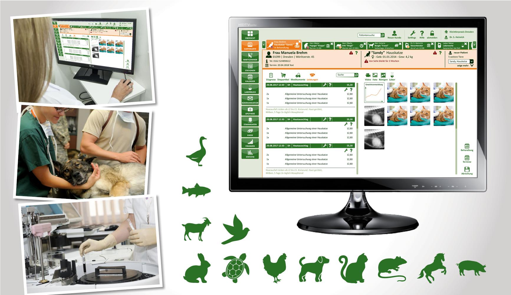 Software für Veterinär-Mediziner