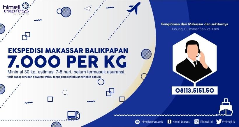 Ekspedisi Makassar Balikpapan Murah 7.000 per kg