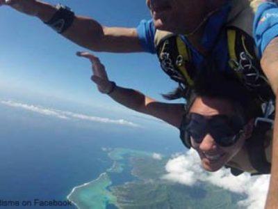 7. Skydiving over Moorea or Bora Bora.