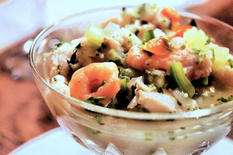 Ceviche in a bowl