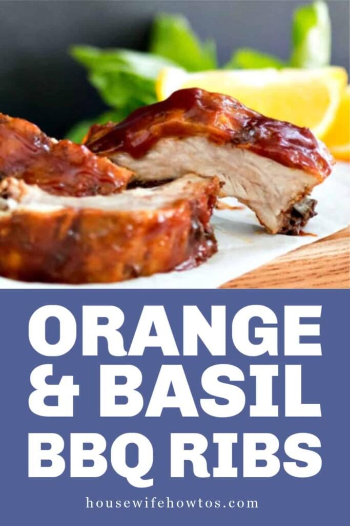 Sweet Orange Basil BBQ Sauce Ribs