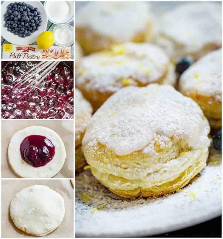 Lemon Blueberry Cronuts
