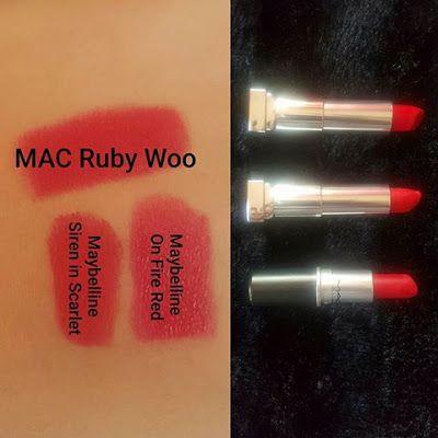 MAC Ruby Woo Dupes