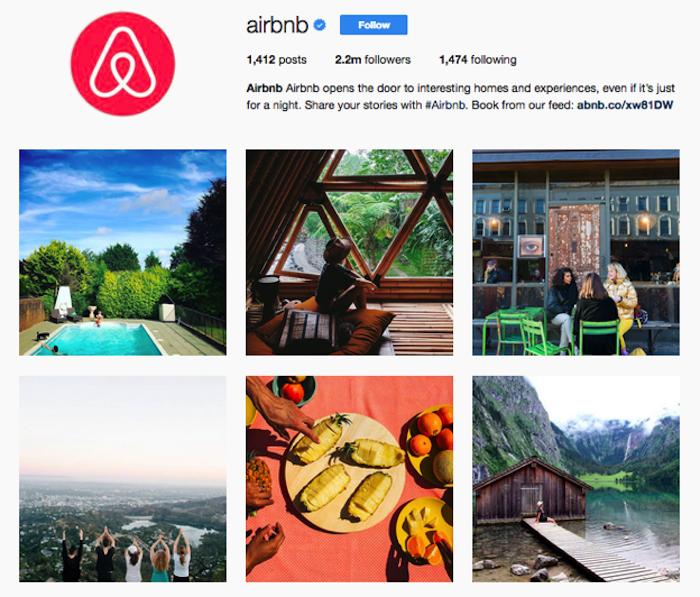 Airbnb instagram social media
