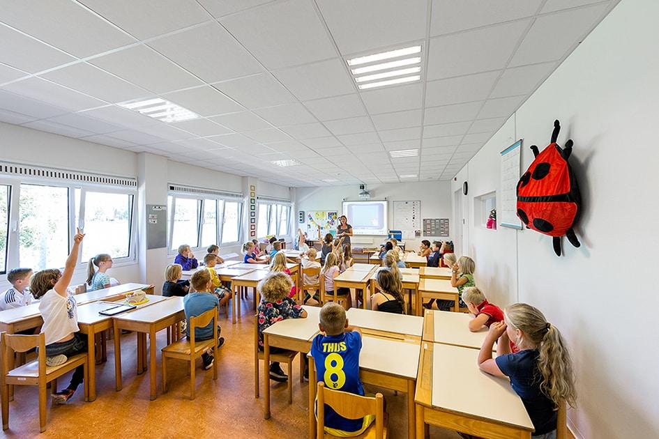 Aardbevingsbestendige school van 2106 m2