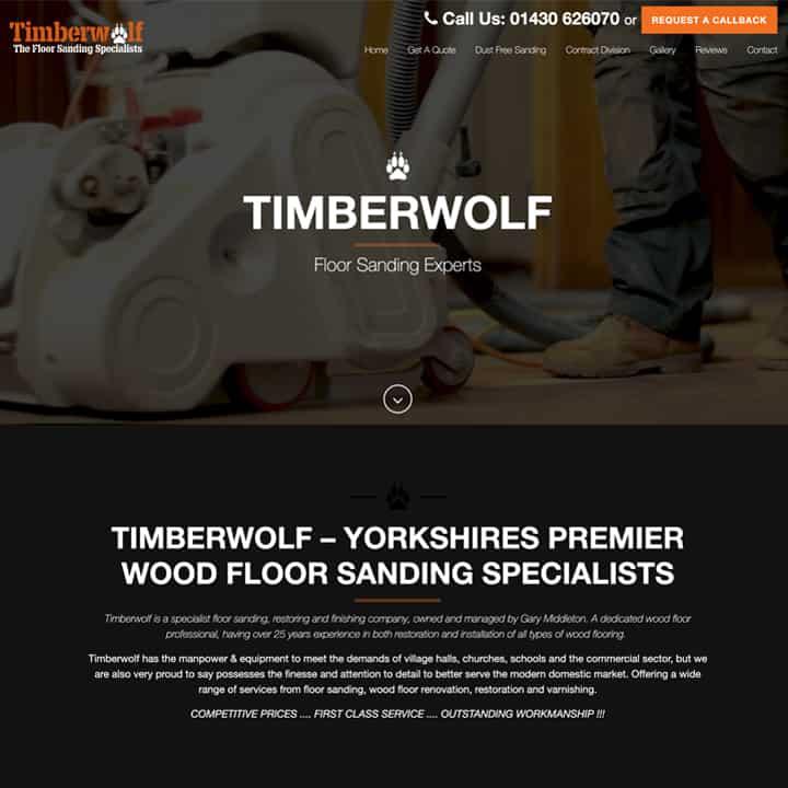 Timberwolf Floors Website