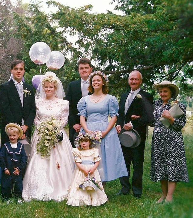 bridesmaid in 1980s