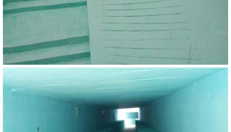 پایان عملیات احداث زیرگذر پیاده رو لشتغان به طول حدود ۶۰ متر پس از رنگ آمیزی توسط شهرداری بندرخمیر