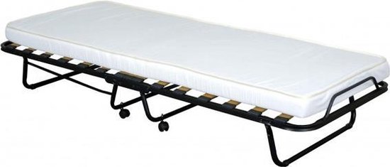 Boxspring Company Vouwbed/Logeerbed Deluxe - Zwart - 90x200