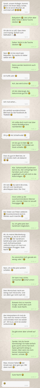 WhatsApp Chat nach der Kontaktsperre Ex zurück eine neue Beziehung entsteht