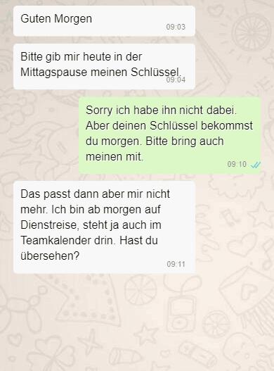 Ex zurück mit SMS - Kontaktsperre Schlüssel austauschen