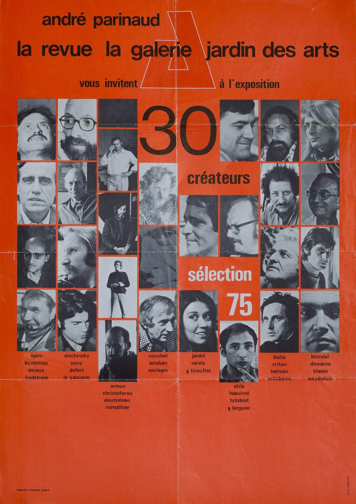 30 créateurs. Sélection 75. Archives Le Yaouanc. Photo: Luc Delaborde