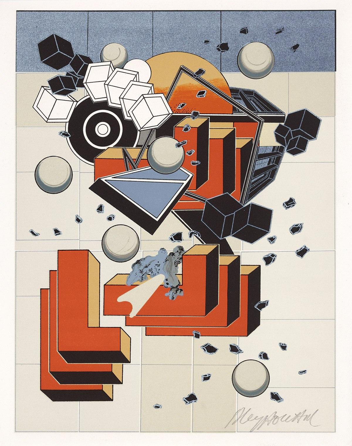 Sans-titre, lithographie tirée de Ouvrages, 1978. Photo: Allen Le Yaouanc