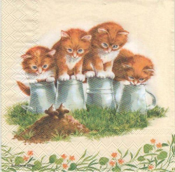 Serviette papier motif animaux
