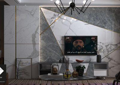خلفية تلفزيون رخام