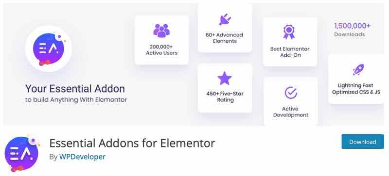 Essential Addons für Elementor