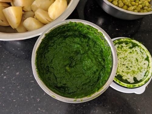 Puree is ready for hara bhara kabab