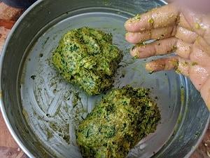 Dividing the dough into equal portions