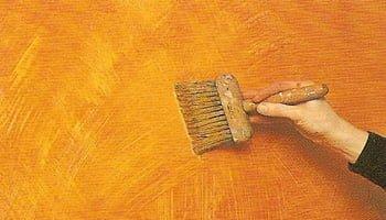 Применение эффектов при окраске стен.