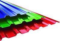 Забор из разноцветного профнастила