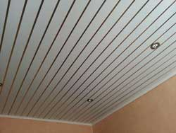 Потолок из пластика ПВХ