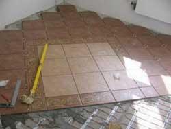 Отделка керамической плиткой по тёплому полу