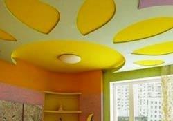 Покраска потолка в детской комнате