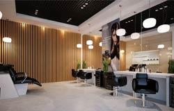 Отделка парикмахерской по дизайн проекту