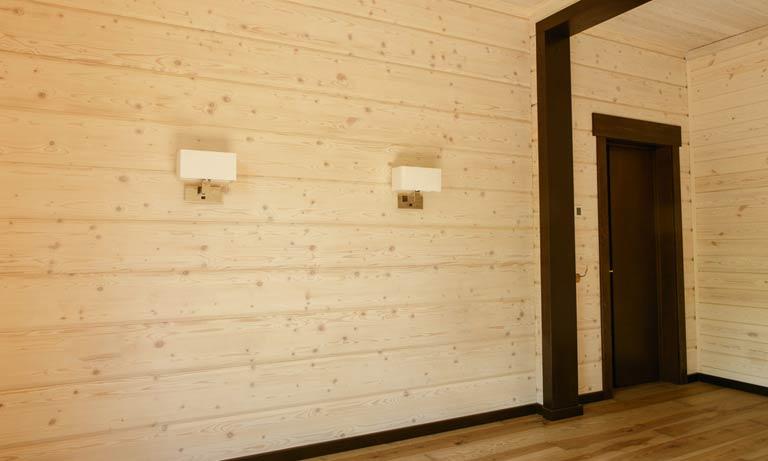 Имитируем деревянный брус в современной квартире