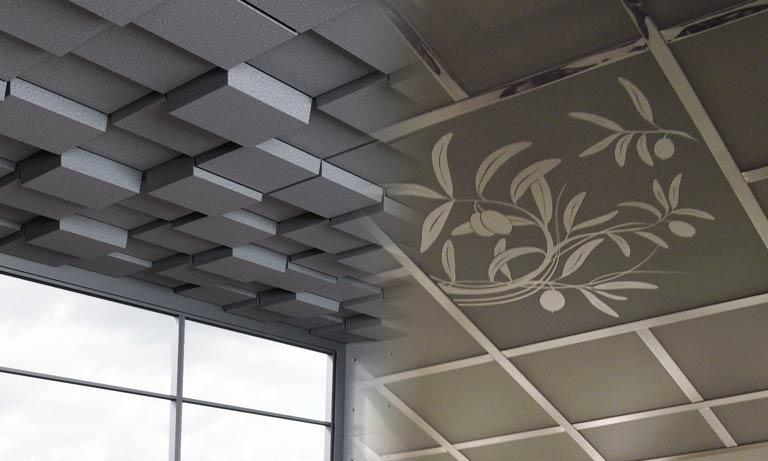3d модульный потолок для офисов и дома
