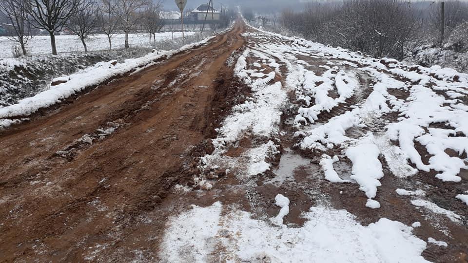 Неудачный эксперимент с глиняной дорогой на Закарпатье