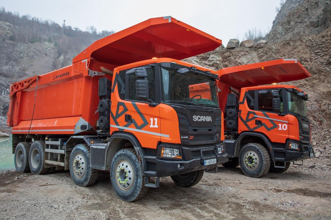 Производитель щебня поделился опытом использования карьерного самосвала Scania